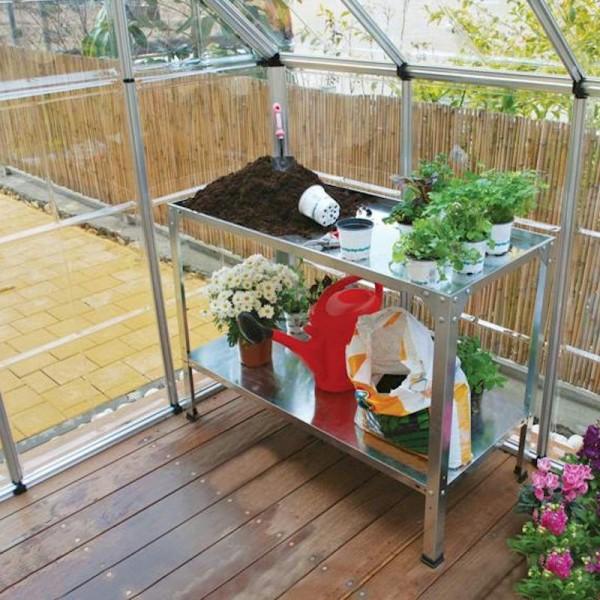 Steel Greenhouse Work Bench
