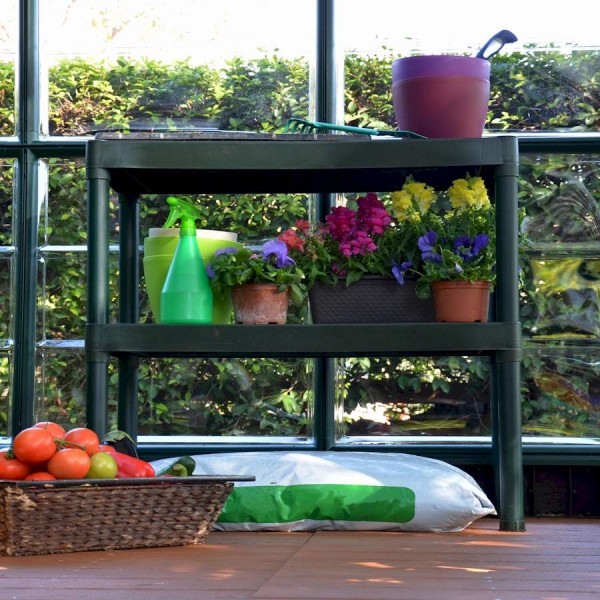 Two Tier Greenhouse Staging