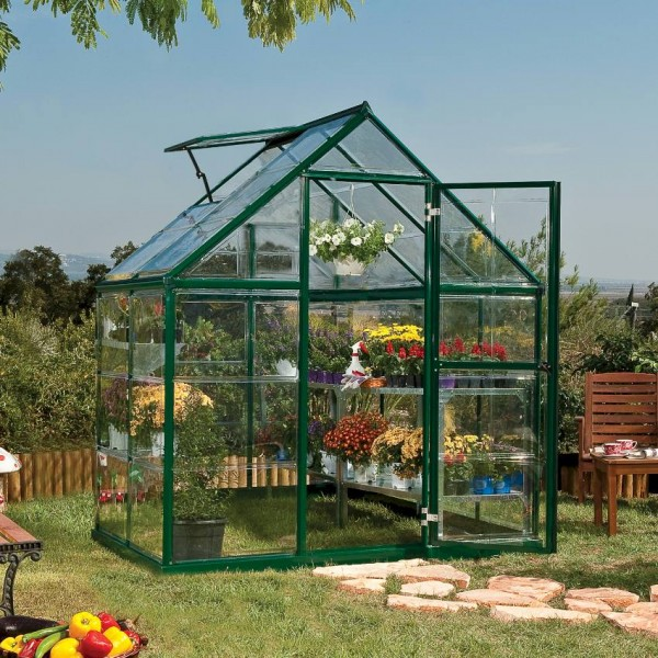 Harmony 6`x 4` - Green Small Greenhouse