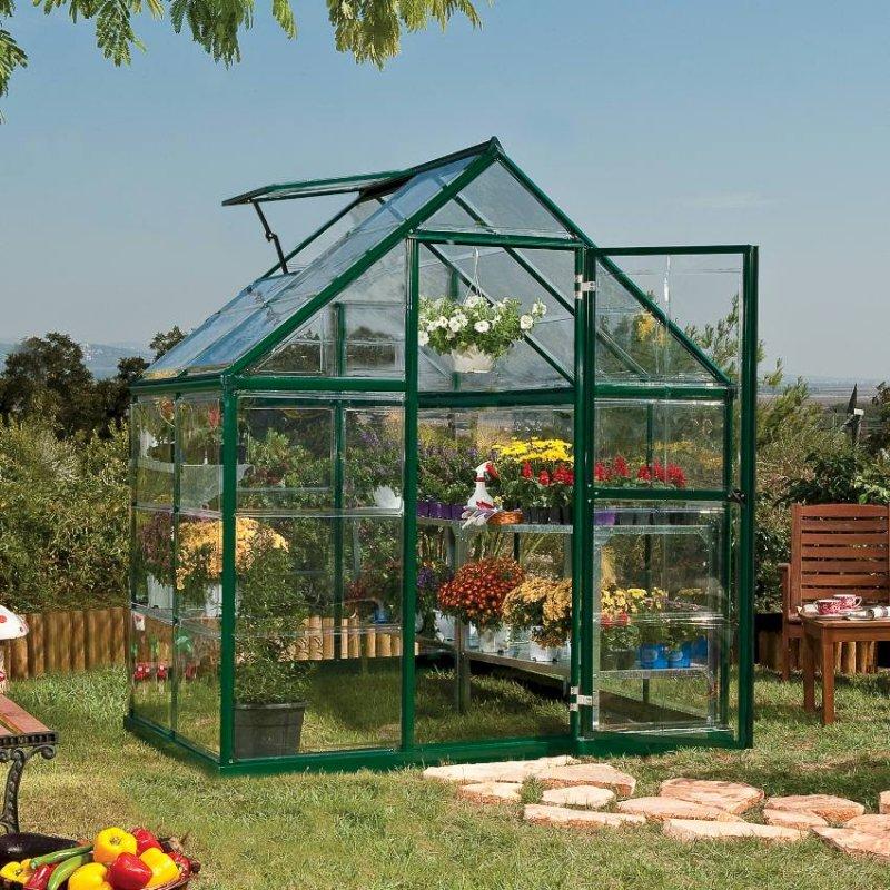 Harmony 6`X 4` - Green Small Greenhouse