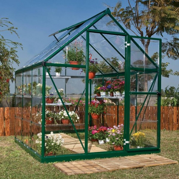 Harmony 6`x 6` - Green Small Greenhouse