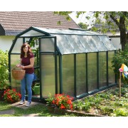 Twin-Wall Plastic Greenhouse 6′ x 10′ Green