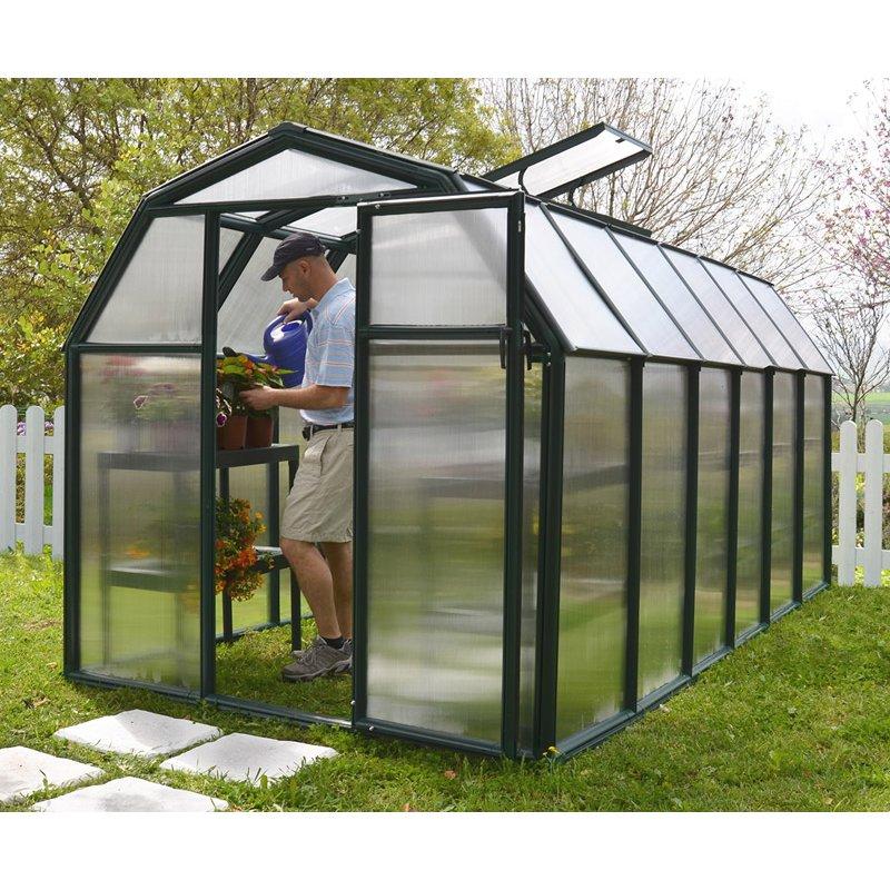 Greenhouse Eco Grow 6′ x 12′ Green Small Greenhouses