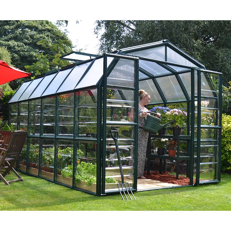 Best Greenhouse Grand Gardener 8 ′x 12′ Green Clear