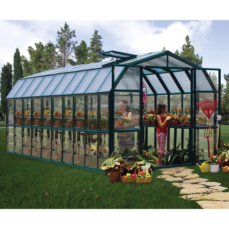 Grand Gardener 8′ x 20′ Clear Green Greenhouse