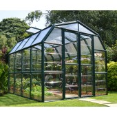 Grand Gardener 8′ x 8′ Clear Green Greenhouse