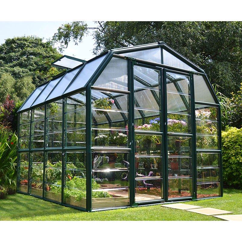 Grand Gardener 8′ x 8′ Clear Green Greenhouse