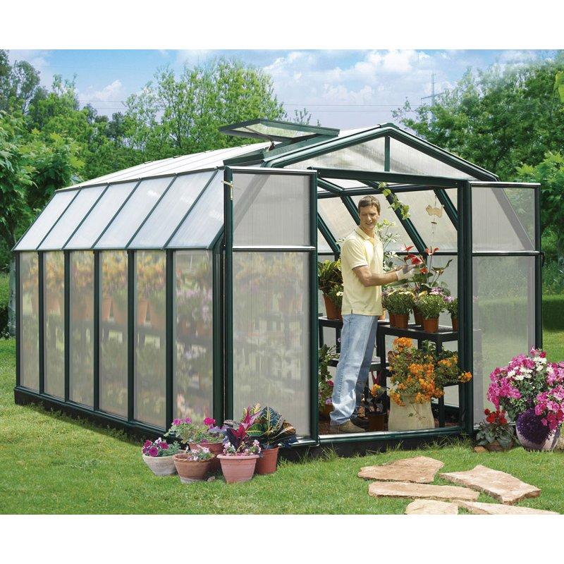 Hobby Gardener 8′ x 12′ Greenhouse Green