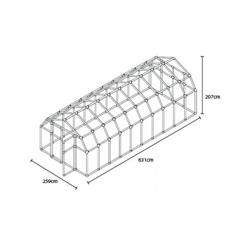 Greenhouse Hobby Gardener 8′ x 20′ Green