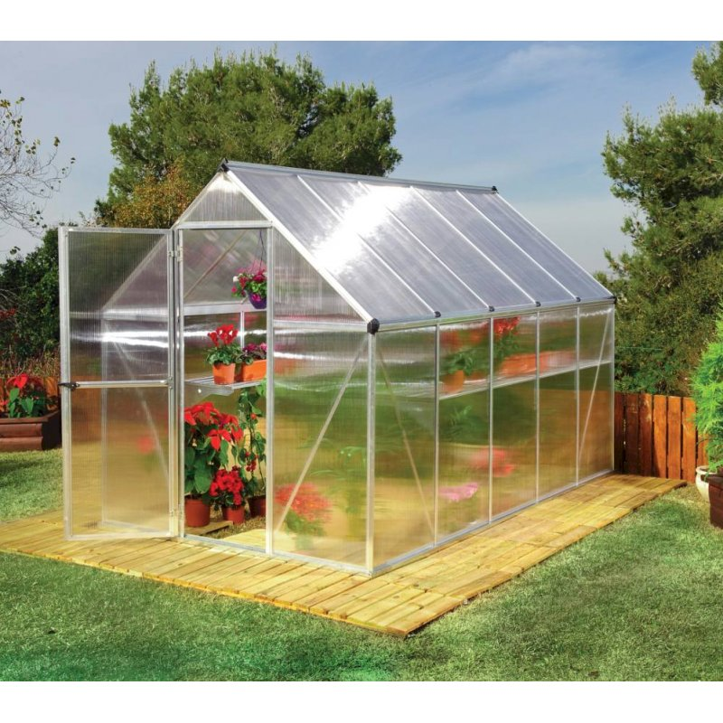 Mythos 6'x10' Silver Polycarbonate Greenhouse