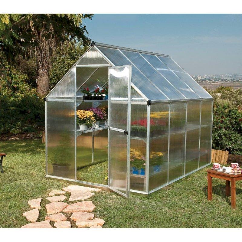 Mythos 6'x8' Polycarbonate Greenhouse Silver