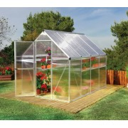 Mythos 6'x8' Polycarbonate Greenhouse Silver