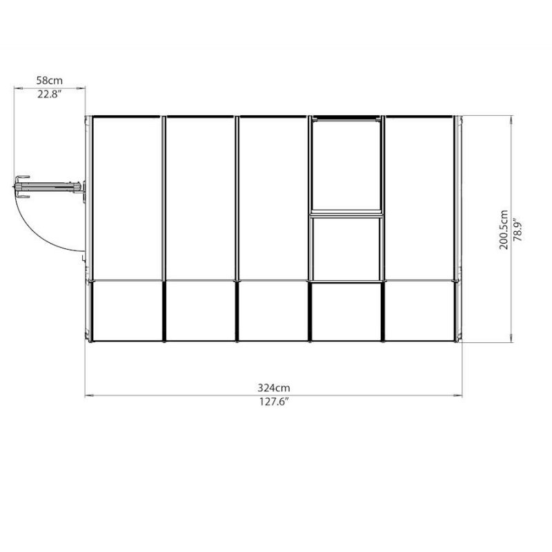 Lean-To Greenhouse Or Sun Room 6′ x 10′ White