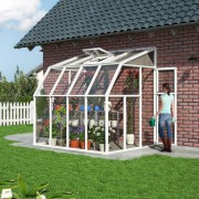 Lean To Greenhouse Or Sun Room 6′ x 8′ White