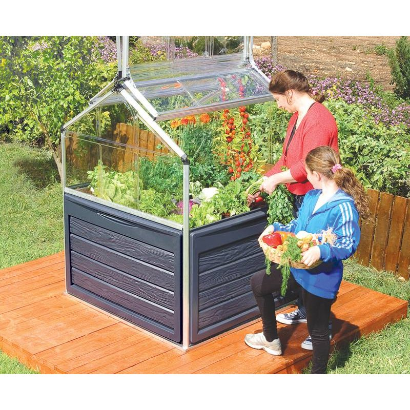 Raised Bed Garden Cloche - Plant Inn Small Greenhouse - Clear