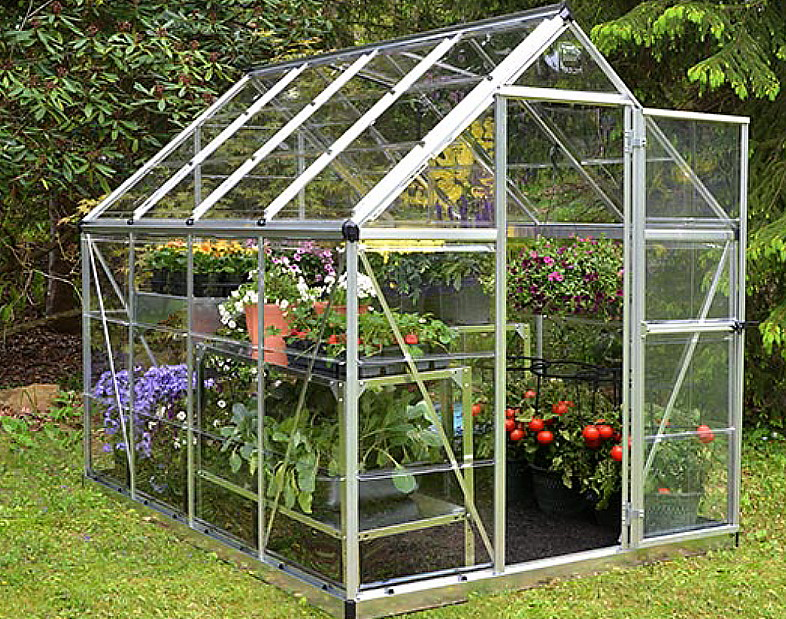 Greenhouse with child safe clear glazing