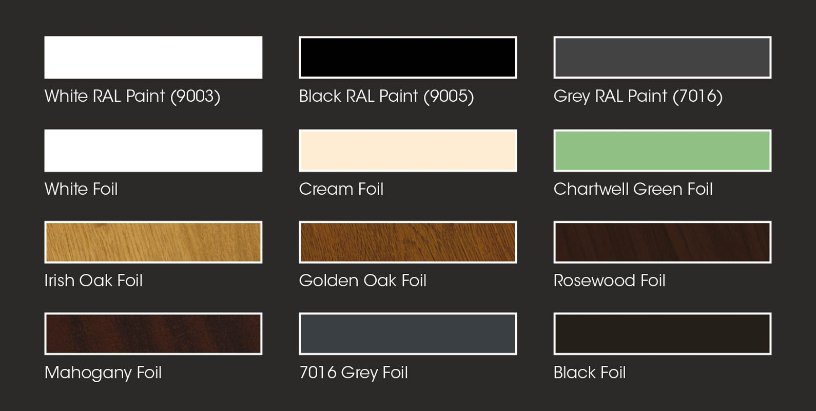 Greenhouse Colour Options