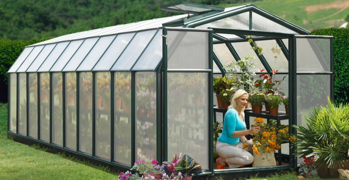 Really big greenhouse perfect for nursery or garden centre use.