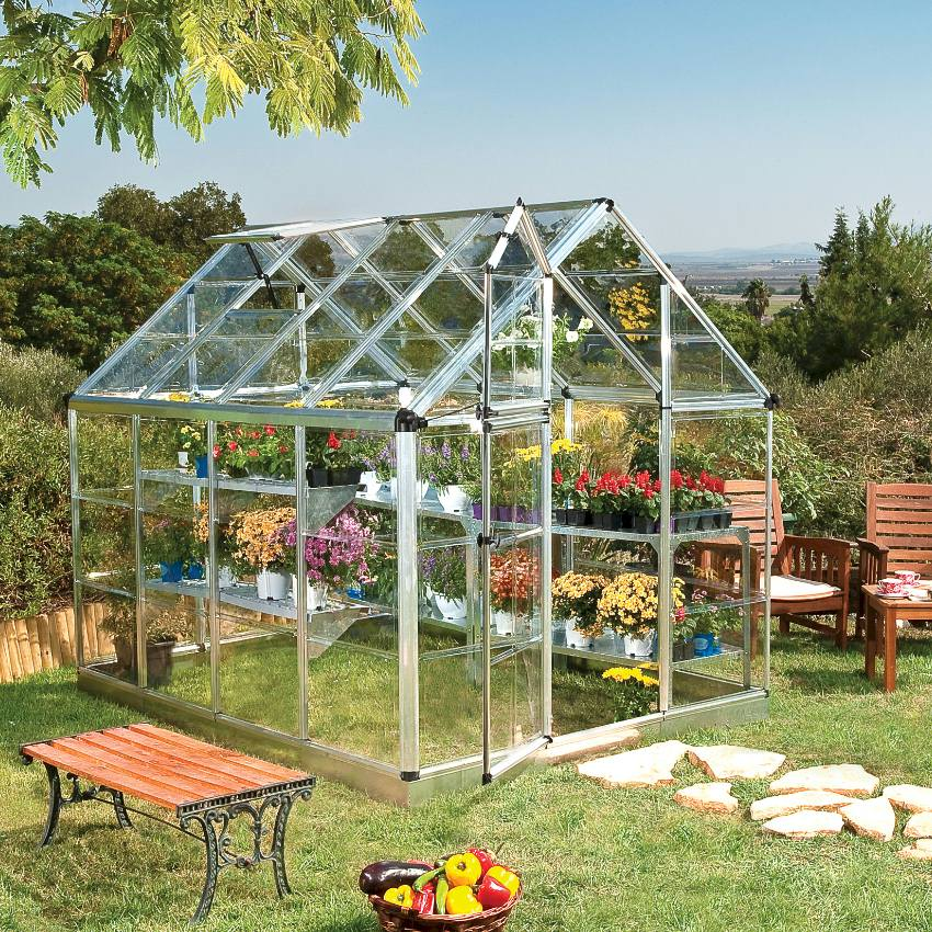 Simple easy to build greenhouse with clear glazing.
